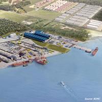 Artist impression of BOMC port (Image: BOMC)