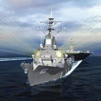 Artist's concept of a DDG-51 Flight III with the Air and Missile Defense Radar (AMDR). Image: Raytheon