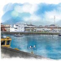 Artist's impression from Wightlink of new £45m ferry terminal project at Gunwharf in Portsmouth. Includes a new two-storey car marshalling deck and a new customer experience building. (Photo: REIDsteel )