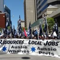 Australian protesters: Photo MUA