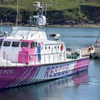 Banksy's Louise Michel vessel - Credit: Christian Herrou/MarineTraffic