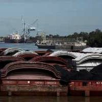 Barges in the Gulf: Photo courtesy of AEP River Operations
