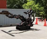 """Big-Arm,"" the Teleoperation robotic system. (Photos: courtesy Raytheon)"