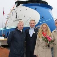 'Blue Prosper' Naming Ceremony: Photo credit Ulstein