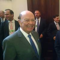 Bob Wetta, President and CEO of DSC Dredge LLC, right, with U.S. Commerce Secretary Wilbur Ross during PAC-DBIA. (Photo: DSC Dredge)