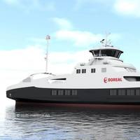 Boreal's new car and passenger ferry will sail on fully electric battery power from January 2020 (Image: Mult-Marine)