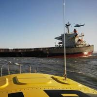 Bulk Carrier 'Smart' aground: Photo credit NSRI