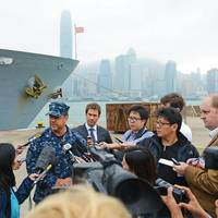 Capt. Disy press conference: Photo credit USN
