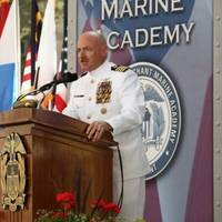 Captain Mark Kelly Addresses USMMA: Photo credit USMMA