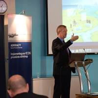 Captain Paul Hailwood, UKHO ECDIS Seminar (Photo: UKHO)