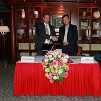 CCS MoU signing ceremony in Beijing on 29 March are (left) Thomas Klenum, LISCR Technical Director, and CCS vice-president Sun Feng.  (Photo: LISCR)
