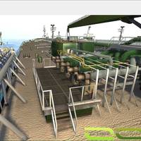 CCTV view of the manifold in the new K-Sim Cargo model, SCC-II (Image: Kongsberg Maritime)