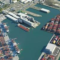 CGI of completed Liverpool2 container terminal