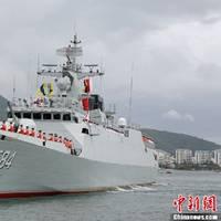 China warship Meizhou: Photo courtesy of PLAN