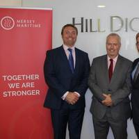 Chris Shirling-Rooke, CEO Mersey Maritime; Lars T Ugland, chairman of IOMSA; and Coin Lavelle, Legal Director, Hill Dickinson (Photo: Mersey Maritime)
