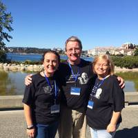 Chrystie Benson, Helm Operations and Pat and Sandy Folan, Tug and Barge Solutions. Photo: Helm Operations Software Inc.