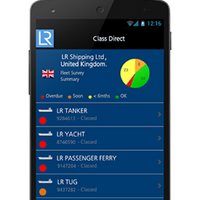 Class Direct smartphone app: Image courtesy of LR