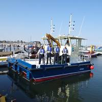 Cleveland's New Clean-up Boats: Photo credit Cleveland Port Authority