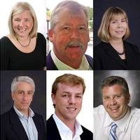 clockwise from top left: Debbie Mills, Ken Shelley, Lisa Owen, Mark Miller, Matt Houston, Patrick Van Every