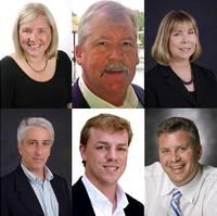clockwise from top left: Debbie Mills, Ken Shelley, Lisa Owen, Mark Miller, Matt Houston, Patrick Van Every
