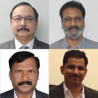 Clockwise from top left: Pravin Kirolikar, R Sudharshan, Viraj Padiyar, B. Jeyanthan (Photo: Goltens)
