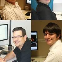 clockwise from top left: Samuel Waterhouse, Luisa Malabet, Michael LaRose and Joseph Dupont