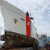 Coast Guard Cutter Diligence up for repair in Curtis Bay, Md. (USCG photo)