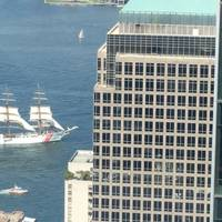 Coast Guard Cutter Eagle sails into New York, Thursday, August 4 (Photo: Jeff O'Malley)