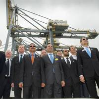 Company Executives Stride Forward: Photo credit DP World London Gateway