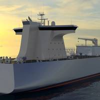 Concept Design Ammonia Carrier. Image: C-Job Naval Architects