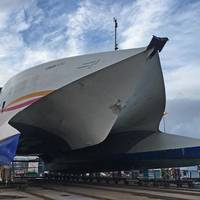 Condor Rapide undergoes refit at Cherbourg (Photo: Burgess Marine)