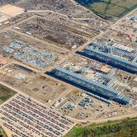 Construction at Cheniere Energy Inc.'s LNG terminal in Sabine Pass, Louisiana, in Dec. 2013. Source: Cheniere Energy