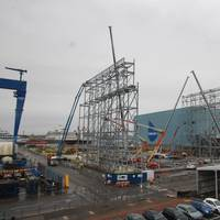 Construction starts on Massive Type 31 'Frigate Factory' in Rosyth. Image: Babcock