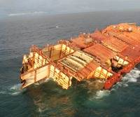 Container ship 'Rena': Photo credit MNZ