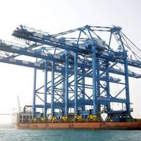 Crane arrival Khalifa Port: Photo courtesy of ADT