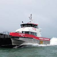 Crew Transport Vessel equipped with two Voith Linear Jets (VLJ) Photo courtesy of Voith