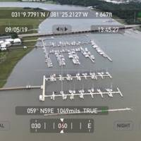 Crewmembers from Coast Guard Air Station Savannah conduct overflight assessments of the St. Simon Sound following Hurricane Dorian Sept. 5, 2019. The Coast Guard uses assets in the air and on the water to identify obstructions that would impact the safe navigation of our ports and waterways. U.S. Coast Guard Photo by Lieutenant Mark Bonner.  (Photo: USCG / Lieutenant Mark Bonner)
