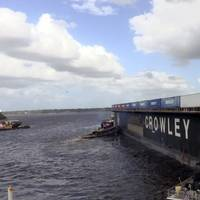 Crowley's La Princesa Barge Leaving Talleyrand. (CREDIT: Crowley)