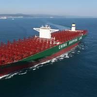 CSCL Globe on sea trials (Photo: HHI)