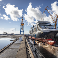 Cunard's Queen Elizabeth (Photo: Damen Shiprepair Brest)