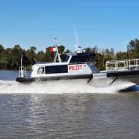 Custom Bill Preston-designed 45' aluminum pilot boat built by Metal Shark for the Canaveral Pilots. (Photo: Metal Shark)