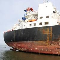 Damage to 'Overseas Reymar': Photo credit USCG