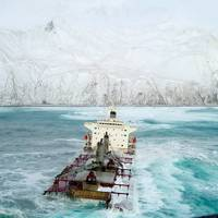 December 8, 2004. The bulk carrier M/V Selendang Ayu ran aground on Unalaska Island.