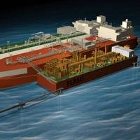 Depiction of the world's first Floating LNG Liquefaction, Regasification and Storage Unit (FLRSU). FIle Photo: Marinelink