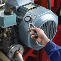 Hand-held electrical discharge detectors can help assess the condition of operating motors. Photo: SKF USA Inc.