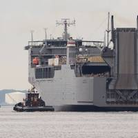 Dod File Photo: M/V Cape Ray outbound to deployment.