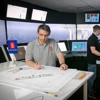 DP training in KONGSBERG simulators at Kongsberg Maritime Ltd's Aberdeen training centre. Photo Kongsberg Maritime