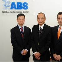 Dr. George Wang, ABS Head of Vessel Performance of the Global Performance Center; Ah Kuan Seah, ABS Director of the Global Performance Center and Dr. Franck Violette, ABS Head of Energy Efficiency and Environmental Performance of the Global Performance Center. Photo: ABS