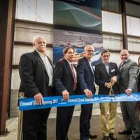 Dr. Klaus Geissdoerfer, Head of the ZF Group Industrial Technology Division officially opens ZF Marine's new North American Commercial Craft Center of Competence.  L to R: Paul Johnston – Jefferson Parish Councilman, Fred Preis –Jefferson Chamber of Commerce, Andre Koerner – ZF, Dr. Klaus Geissdoerfer – ZF, Michael Babin – ZF, Jessica Foreman – New Orleans Inc. Regional Economic Development Alliance, Jerry Bologna – Jefferson Parish Economic Development Commission]  Image: [ZF – Gauvin Photo]