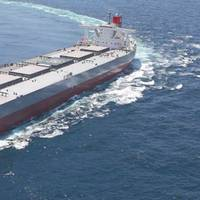 "Dry bulk carriers are the majority (195 ships/25.3 million DWT) of the ""K"" Line fleet. Photo: ""K"" Line"